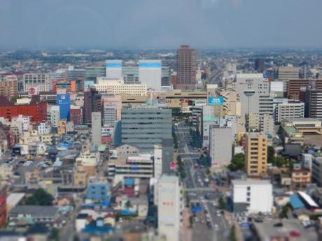 PowerShot SX260HSで高崎の街をジオラマ風に