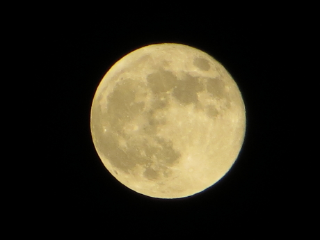 80倍で満月を撮影