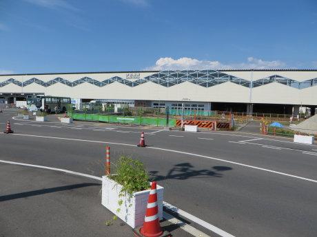 整備中の伊勢崎駅南口