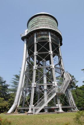敷島浄水場の配水塔が選奨土木遺産に