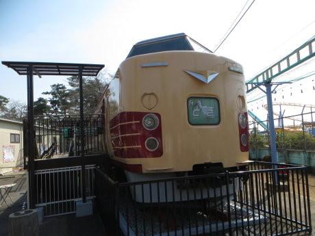 華蔵寺公園に特急「とき」号