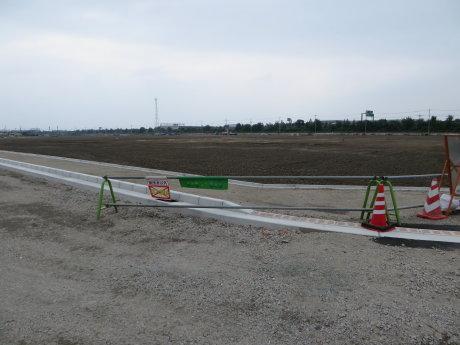 前橋南部拠点西地区土地区画整理事業工事の様子