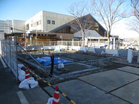 新前橋駅前にできる交番工事の様子