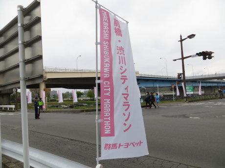 前橋・渋川シティマラソン観てきました