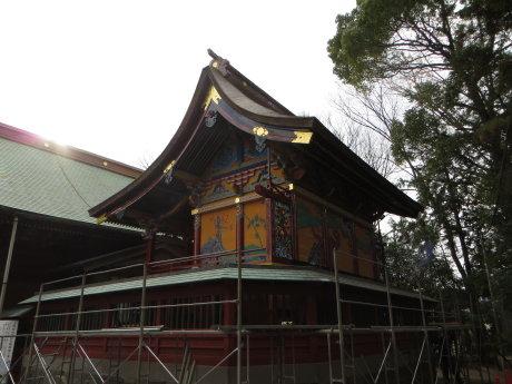久し振りに、明神様(上野総社神社)