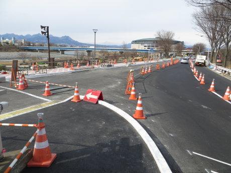 前橋公園通り線の工事