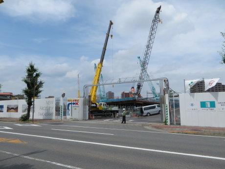 高崎市新体育館建設工事の様子