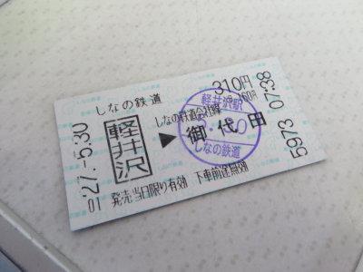 軽井沢駅から御代田駅まで