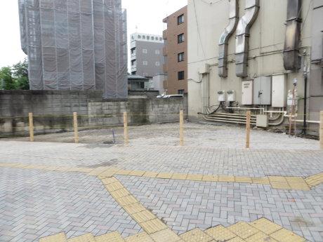 新前橋駅前交番があった場所は更地に