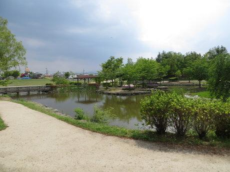 玉村町北部公園の修景池