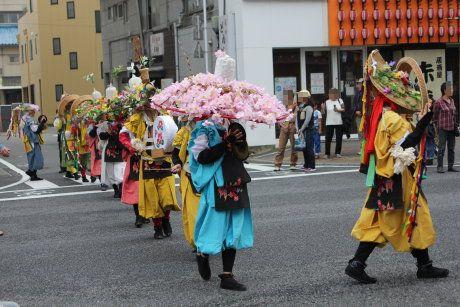 雷舞フェスティバルの高崎大田楽