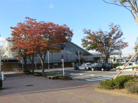 新前橋駅前も秋の雰囲気に