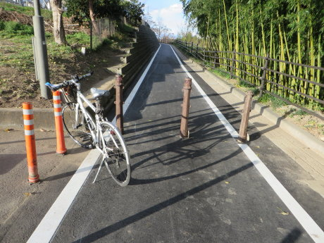 ようやく開通サイクリングロード
