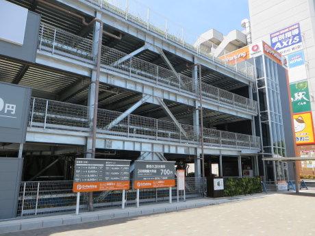 前橋駅北口の立体駐車場は今日オープン