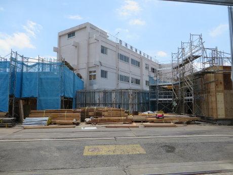 校舎改築建築工事中の元総社南小学校