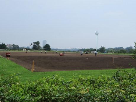敷島緑地のサッカー・ラグビー場はただ今整備中