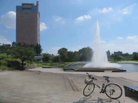 前橋公園の噴水が運転再開