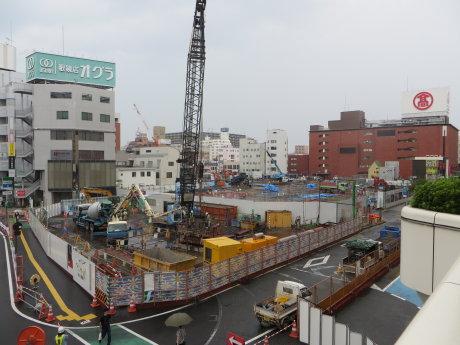 建設中の高崎OPA