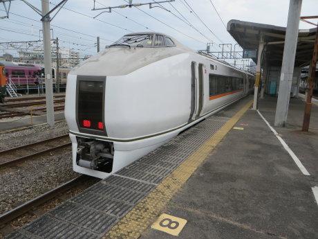 ぐんまちゃんのラッピング特急電車