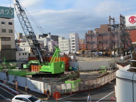 建設中の高崎オーパ
