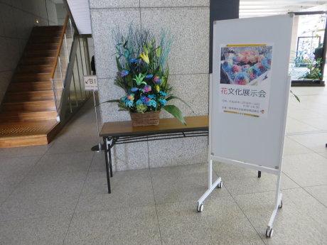 県庁で花文化展示会