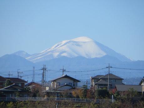 浅間山も真っ白に