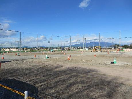 下増田サッカー場の様子