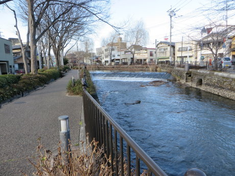 水量の少ない広瀬川