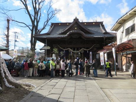 伊勢崎神社で上州焼き饅祭