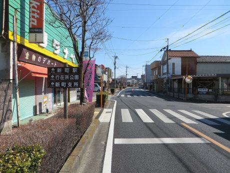 新町ひなまつり会場までサイクリング