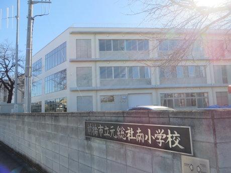 元総社南小学校の新校舎建設工事も