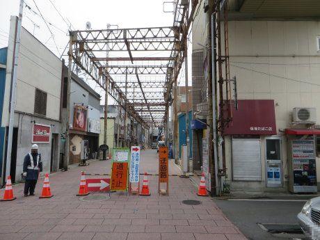 高崎中央通りアーケードの改築工事が
