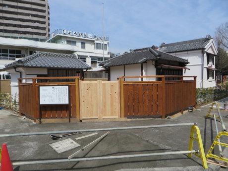 萩原朔太郎記念館の移築工事と移築前の場所は