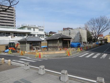移築工事中の萩原朔太郎の生家