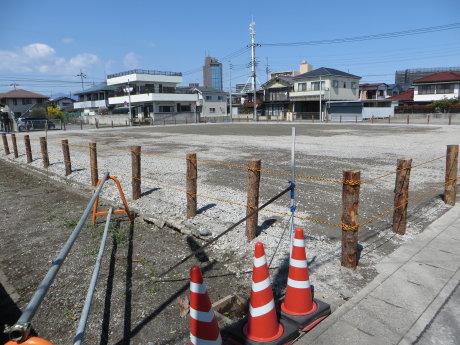 県営住宅の解体工事も終わり・・・