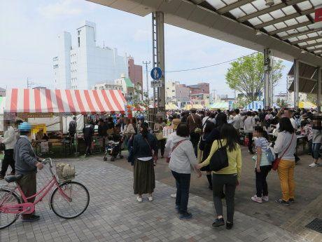 前橋の街中でツナガリズム祭り