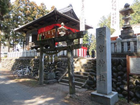三宮神社春祭で太々神楽と子供獅子舞