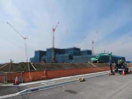 移転工事中の前橋赤十字病院