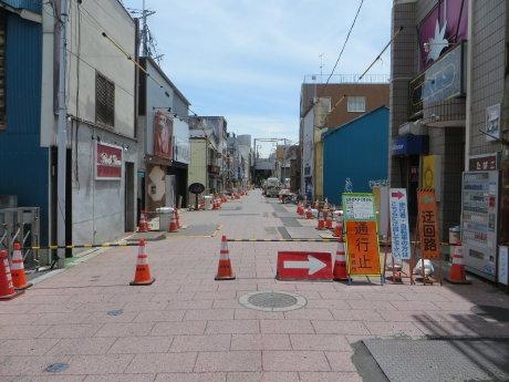 高崎中央銀座のアーケード建設工事