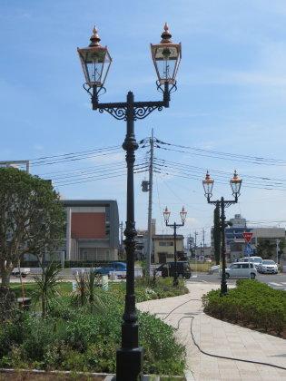 伊勢崎駅前にあるノスタルジックなガス灯