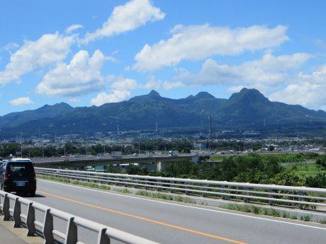 遠くの山がよく見えました