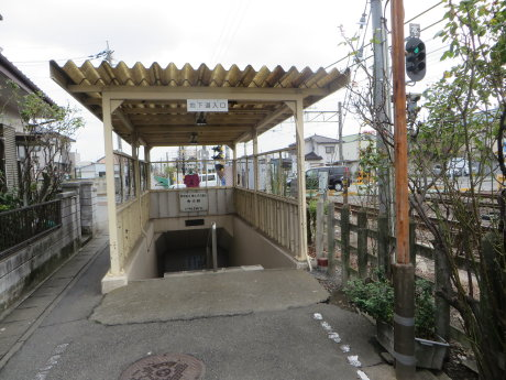 新町駅の南口へ