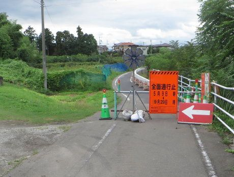 井野川サイクリングロードで迂回