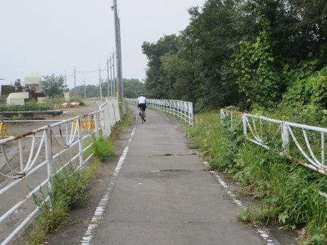利根川サイクリングロードの終点まで