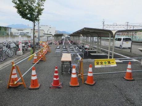 渋川駅北に新しくなった駐輪場