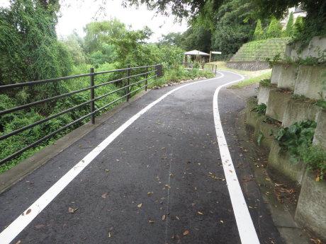 サイクリングロードの舗装工事も終わって