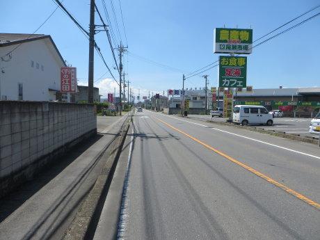 県道12号線に自転車レーン