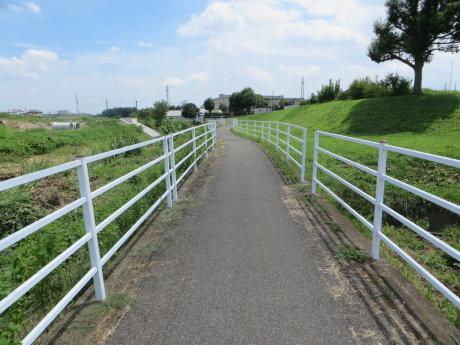 井野川サイクリングロードから浜川運動公園拡張工事の様子を