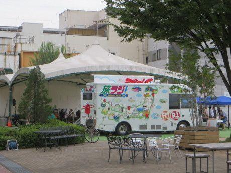 前橋中央イベント広場で旅ラジの公開生放送