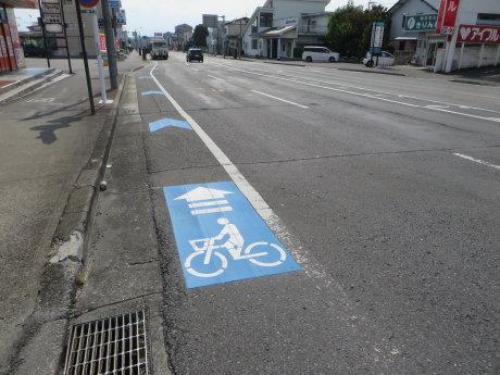 高崎は自転車レーン増えてますね